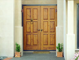 Recommended finishes for solid timber entrance doors