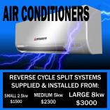 Best quality & economical Split System Air Conditioning Installs. Bribie Island Electricians _small