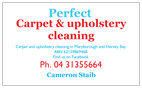 Perfect carpet and upholstery cleaning