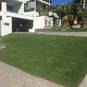 Blue Couch lawn installation
