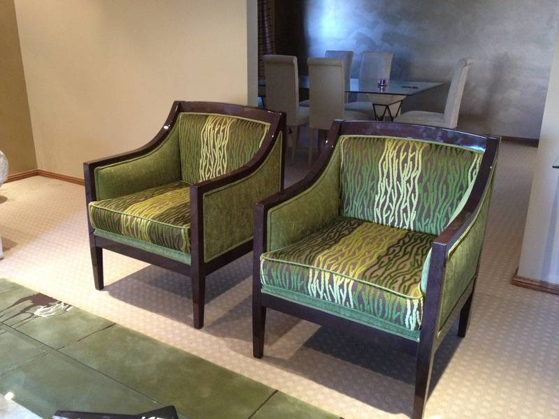 Custom Armchairs & Rug