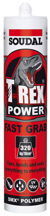 Soudal T-Rex fast grab is the super-strength adhesive that can be used for a wide range of construction materials in both interior and exterior applications.