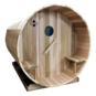 Ukko Barrel Sauna with overhang