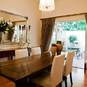 Custom Made Dining Table, Console, Drapes by Charcoal Interiors