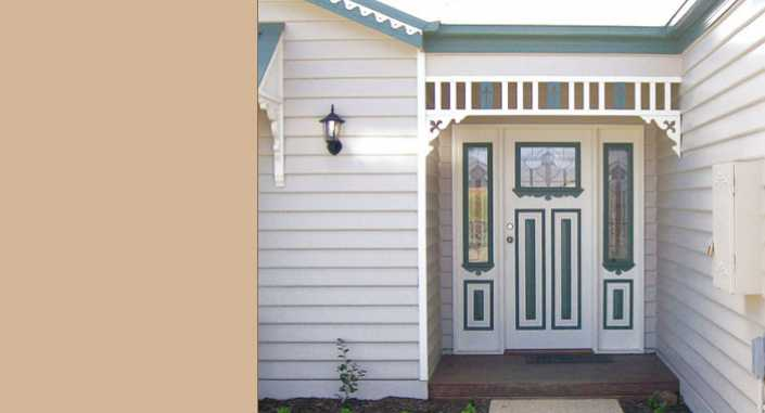 Entrance Door and matching side lights